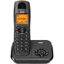General Electric RCA DECT 6 One Handset Cordless Phones ge rca 2162 1bkga