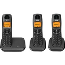 General Electric RCA DECT 6 Three Handset Cordless Phones ge rca 2161 3bkga