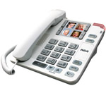 GE/RCA 1123-1WTGA Amplified Big Button Corded Phone