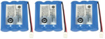 GE/RCA Battery for GE BT-31 (3-Pack) Replacement Battery
