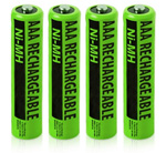 GE/RCA Battery for GE/RCA NiMH AAA (4-Pack) NiMh AAA Batteries 2-Pack